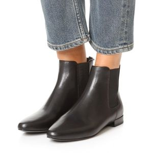 TORY BURCH Black Chelsea Boots Back Zip
